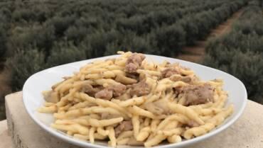 Pasta funghi e salsiccia